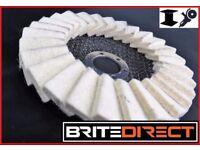 Pack of 10 Flap Felt Disc 125 5 Polishing Angle Grinder Buffing Wheel Metal Alloy Brite Direct Ltd.