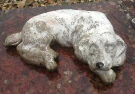 Sleeping Dog Resin Ornament