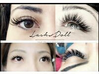 Semi-permanent eyelash extensions, Classic individual and Russian Volume Lashes 2D-6D
