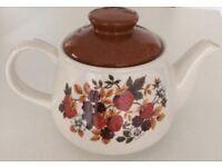 TEAPOT Sadler England FOREST FRUIT tea pot strawberries blackberries berries RETRO VINTAGE 1970s