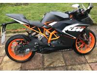 KTM RC125 2016 125CC ALL PAPERWORK SPORTS MOTORBIKE MOTORCYCLE BIKE BARGAIN £2495!!!