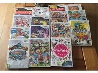 Wii console with 15 games please read listing
