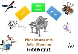 Piano lessons with Julian. Read music, play by ear and learn harmony.