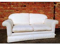 Laura Ashley Sofa Bed - Ivory/White