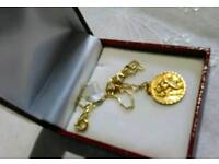 Vintage 9ct Gold St Christopher & Chain in presentation box