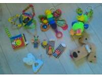 Lamaze baby toys bundle rattles, hand finders and more