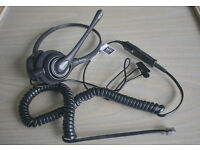 Plantronics SupraPlus 261N Phone Headset Complete With Bottom Cord