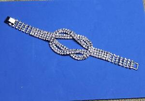 Rhinestone Love Knot Bracelet