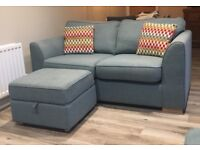 2 x Sofa's and footstool £400