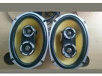 Vibe Audio BA69 Blackair 69 6x9 3way 175 watt rms speakers (pair)