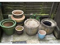 Selection of garden pots for sale £30.00