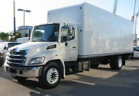 2012 Hino 338 diesel with 24 ft box X 3