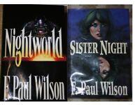 F Paul Wilson hardback books