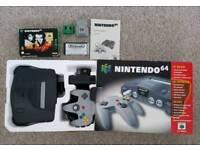 Boxed Nintendo 64 N64 retro games Console + Goldeneye 007 game