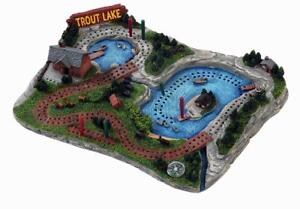 NEW Outside Inside Trout Lake Cribbage Board (11 X 8 X 2.25-Inch)