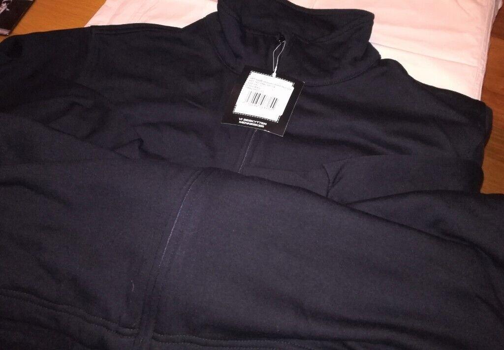 994d295bfea3 Black Zip Mid-layer Jacket Size XXL Navy