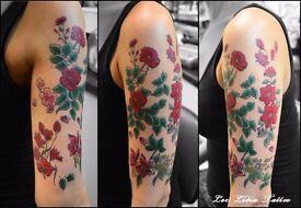 Female tattoo artist