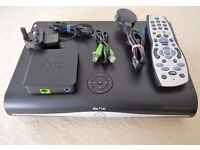Sky + HD Box 3D On Demand, Remote, Sky Wireless Box SC201, all leads