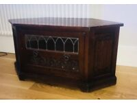 Old Charm Wood Bros Mahogany Corner TV Cabinet for Sale!