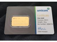 Umicore gold bar 10gram