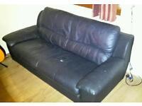 Comfortable black leather style Sofa