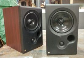 KEF Coda 8 Bookshelf Speakers, rare rosewood finish.