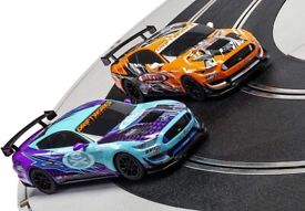 🚗 🚙 Scalextric 🚥 C1421M Slot Car Racing Track Set — Ford Mustang GT4 Drift 360