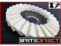 """10 pack of Flap Felt Discs 125x22 5"""" Polishing Angle Grinder Buffing Wheel Metal Alloy Best Price"""