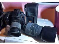 Sony Alpha A200 Digital SLR Camera 18-70mm Lens + Sigma GD 70-300mm Zoom Lens + Sony Flash