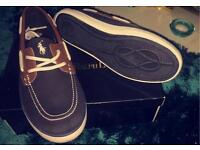 100% authentic Ralph Lauren boat shoes. Brand new in box.