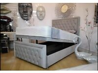 Divan spacious bed with free mattress and headboard
