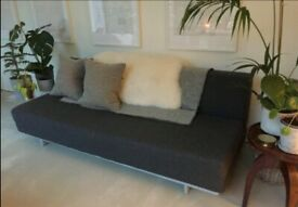 MUJI T2 Sofa Bed. 3 Seater Sofabed. Charcoal Grey. VERY Latest Model COST £750 BARGAIN+I CAN DELIVER