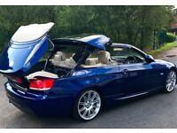 BARGAIN! ONO 2008 M Sport BMW 320D CONVERTIBLE! FSH/HPI CLEAR/2 KEYS/ AUTOMATIC / 1 series 5 a5