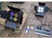 Stage Lights, NJD Quartet, working order, in flight case