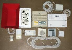 Burglar alarm equipment with phone dialler etc
