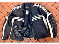 """Frank Thomas 'Luffield' XXL Jacket (44""""Chest) & Large Gloves- as new!"""