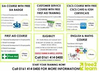 FREE SIA Badge, CSCS Card, FLT amongst more available