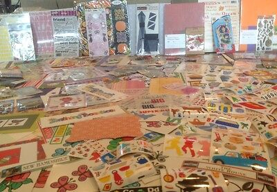 HUGE LOT 1,000 packs sheets new scrapbooking stickers embellishments paper NEW
