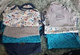 Baby boy vest/sleepsuit bundle
