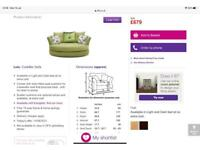 2 Cuddle sofas (Lulu design, DFS) sold as pair £650 or separately £350 each
