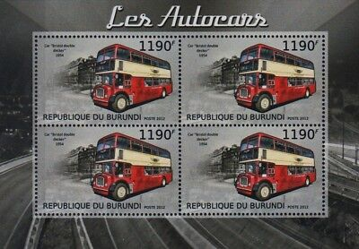 1954 BRISTOL LD (Lodekka) Double Decker British London Bus Stamp Sheet (2012)