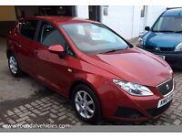 2010 Seat Ibiza 1.4 Tdi Eco 5 dr hatch ZERO ROAD TAX !!86k FSH 12 mths mot met red alloys cd a/c