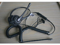 Plantronics SupraPlus 261N Phone Headset Complete With Bottom Cord