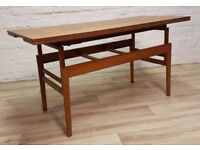 Danish Teak Trioh Metamorphic Coffee/Dining Table (DELIVERY AVAILABLE FOR THIS ITEM OF FURNITURE)