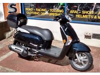 Kymco Like 125cc New Scooter with 2 Yrs Unlimited Mileage Parts & Labour Warranty