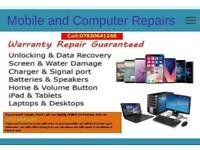 We repair any Mobile phone and Computer if you need a repair then call Ash on 07830641248