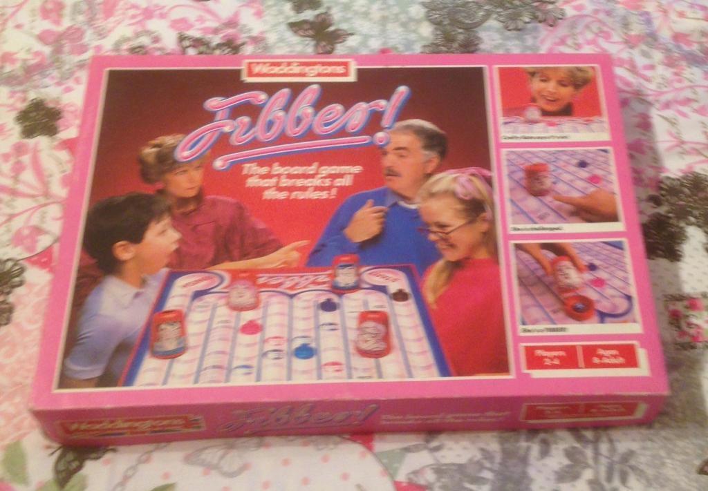 Vintage 1985 Waddingtons Fibber Board Game Complete And Good