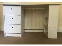 White 120cm x 49cm desk from Argos PLUS foldable chair