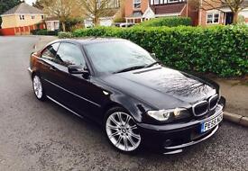 BMW 320i 2.2, 2005 (55), HPI CLEAR, MANUAL, M SPORT, BLACK, E46, FULL SERVICE HISTORY, 3 SERIES