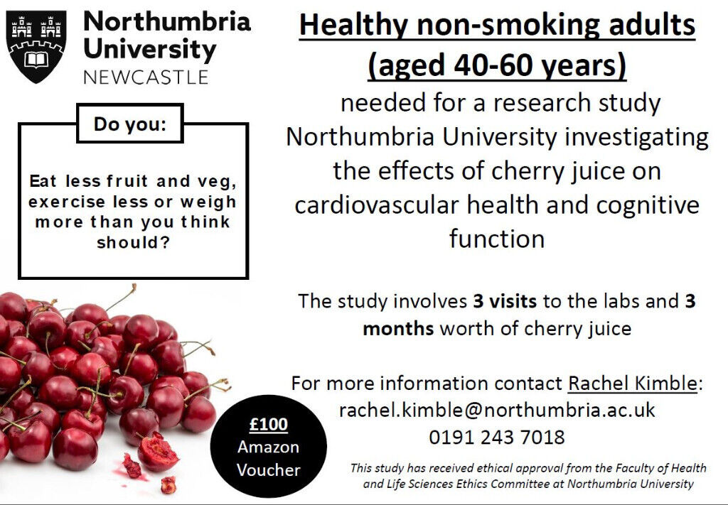 A chance to get involved in exciting research (£100 gift voucher
